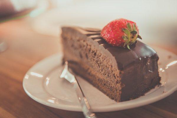 fetta di torta di pasticceria