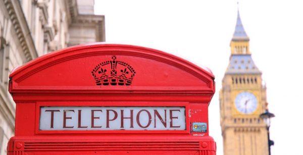 Telephone box UK red