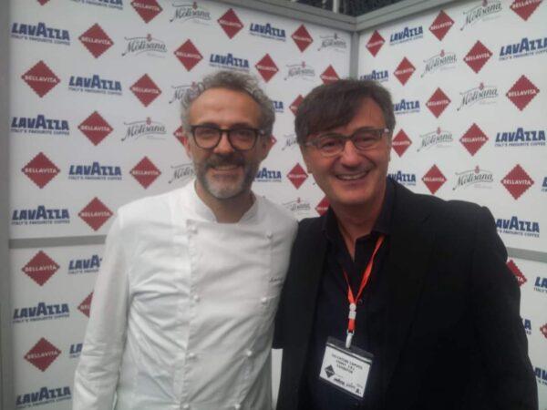 Salvatore con Massimo Bottura
