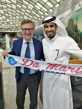 Salvatore con Mohammed Sadoon Al Kuwari